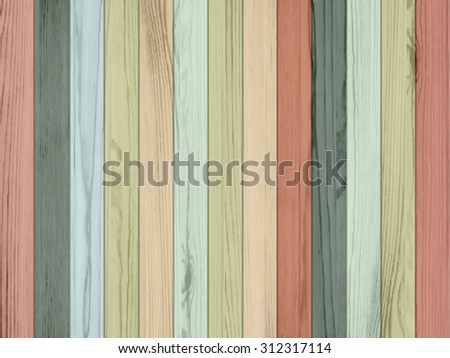 Vector wooden background. Wall color wood texture