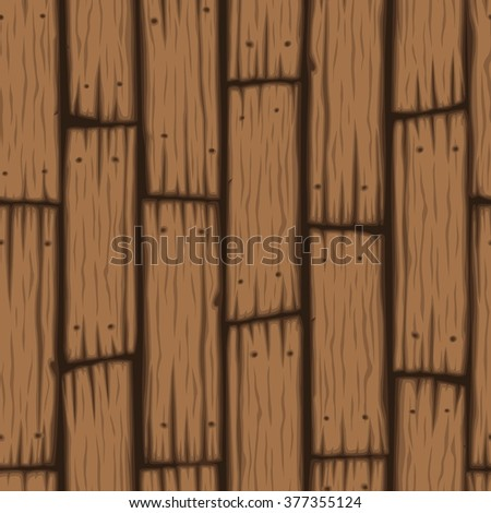 Vector wooden block seamless pattern. Cartoon wooden texture. - stock vector