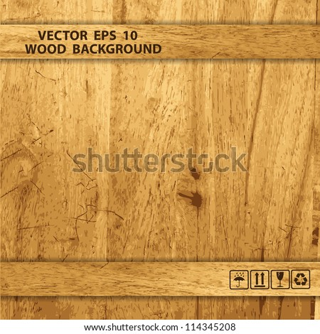 Vector wooden box - stock vector