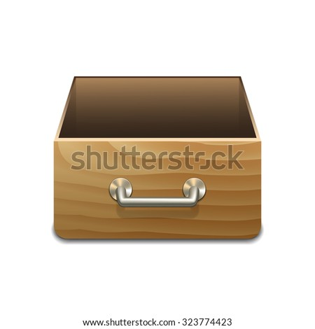 Vector Wooden File Cabinet for Documents. Vector illustration