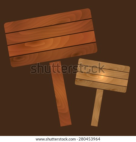 vector wooden plates signs boards with texture eps10