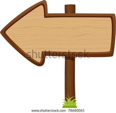vector wooden signboard 4 - stock vector