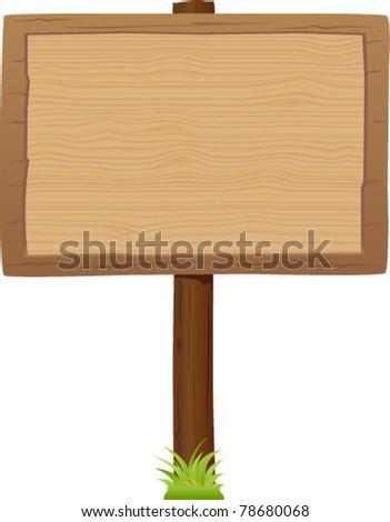 vector wooden signboard 2 - stock vector