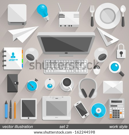 Vector work style. set 2 - stock vector