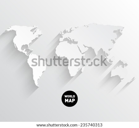 World map flat stock images royalty free images vectors vector world map background with long shadow and flat design style clean and modern gumiabroncs