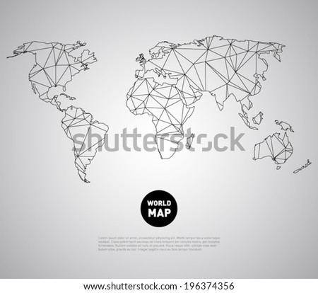 Vector world map background polygonal triangle vector de vector world map background with polygonal triangle style design clean and modern for infographics gumiabroncs Gallery