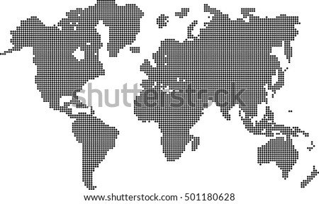 Vector World Map By Dots