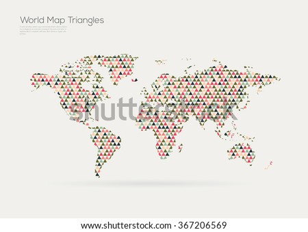 Vector world map design triangle pattern vectores en stock 367206569 vector world map design triangle pattern continents gumiabroncs Gallery