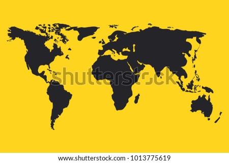 Vector world map earth icon america vector de stock1013775619 vector world map earth icon america asia australia africa usa gumiabroncs Choice Image