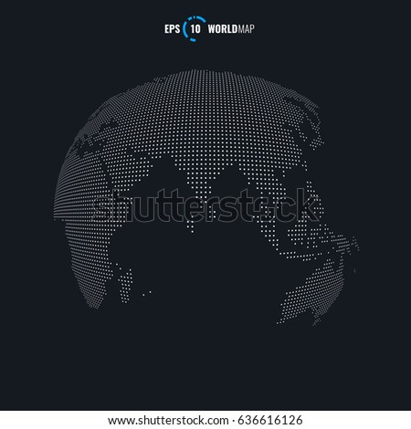 Vector world map globe template eps stock vector 2018 636616126 vector world map globe template eps 10 gumiabroncs Gallery