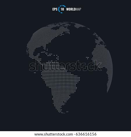 Vector world map globe template eps stock vector 636616156 vector world map globe template eps 10 gumiabroncs Choice Image