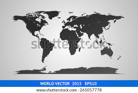 Vector World Map. High detail illustration. 2015 version. - stock vector