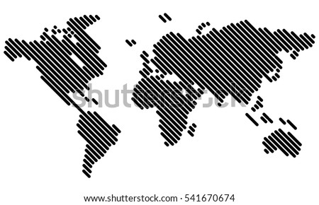Vector - World map (Lines)