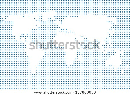 Vector world map made dots modern stock vector 137880053 shutterstock vector world map made of dots modern page layout concept gumiabroncs Images