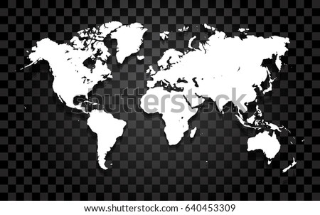 Vector world map on transparent background stock vector 640453309 vector world map on the transparent background gumiabroncs Images