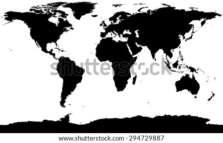 Silhouette map stock images royalty free images vectors vector world map silhouette gumiabroncs Images