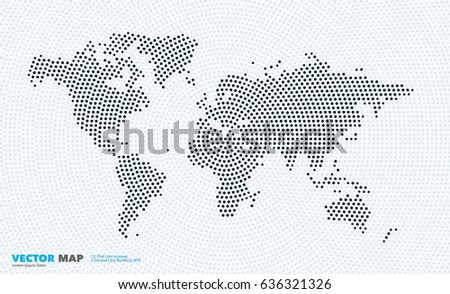 Vector world map template round spots stock vector 636321326 vector world map template with round spots dots for business graphic design abstract art gumiabroncs Choice Image