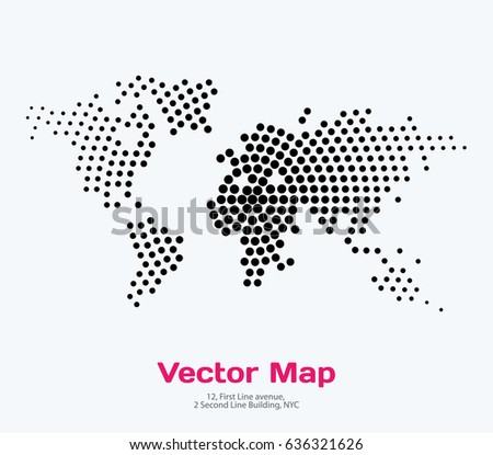 Vector world map template round spots stock vector 636321626 vector world map template with round spots dots for business graphic design abstract art gumiabroncs Images