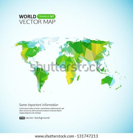 Vector world map triangle set vectores en stock 131747213 shutterstock vector world map triangle set gumiabroncs Gallery