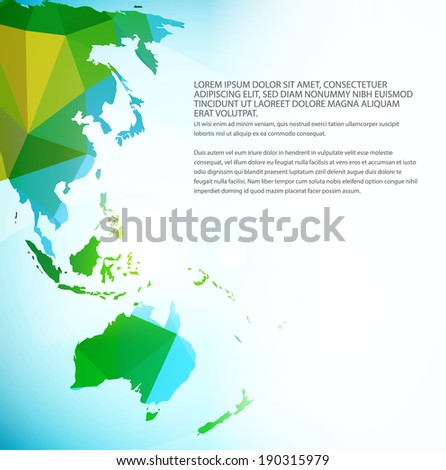 Vector world map triangle set part stock vector 190315979 shutterstock vector world map triangle set part of map for your traveling bochure gumiabroncs Image collections
