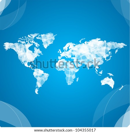 Vector world map white