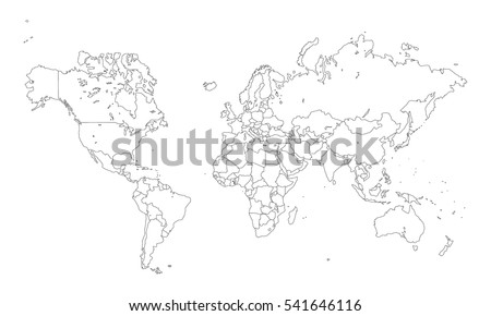 Vector world map countries outline vectores en stock 541646116 vector world map with countries outline gumiabroncs Choice Image