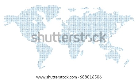Vector world map english alphabet stock vector 688016506 vector world map with english alphabet gumiabroncs Image collections