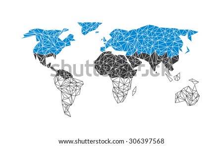 Vector world map with flag of Estonia. - stock vector