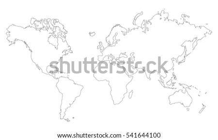 Vector world map countries outline vectores en stock 541646116 vector world map countries outline vectores en stock 541646116 shutterstock gumiabroncs Gallery