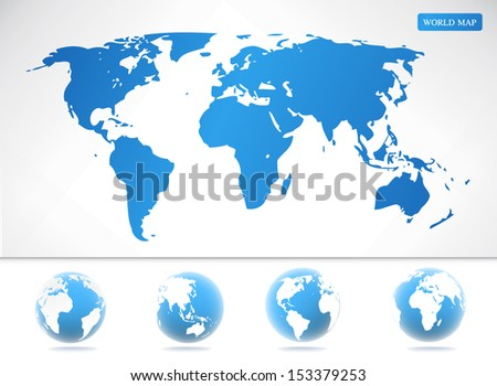 Vector World maps and globes business background