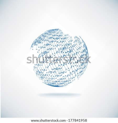 Vector World maps and globes business background  - stock vector
