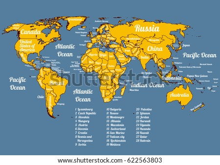 Vector world political map all official stock vector 2018 vector world political map with all official countries on 2017 year modern colorful style gumiabroncs Choice Image