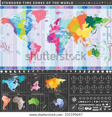 World Time Zones Stock Images Royalty Free Images
