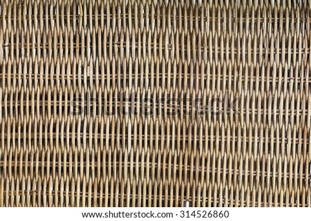 Vector, woven rattan with natural patterns - stock vector