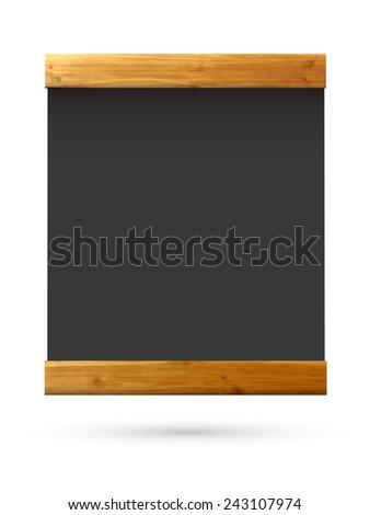 vector writing tablet - stock vector
