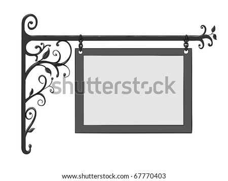 Vector wrought iron signs for old-fashioned design