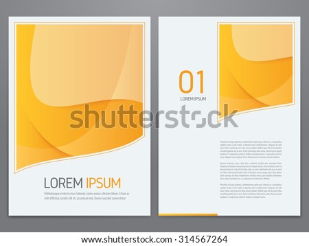Vector yellow business brochure, annual report, flyer, magazine template. Modern corporate design. - stock vector