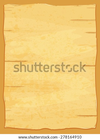 Vector yellow crumpled papyrus paper. Old dirty sheet - stock vector