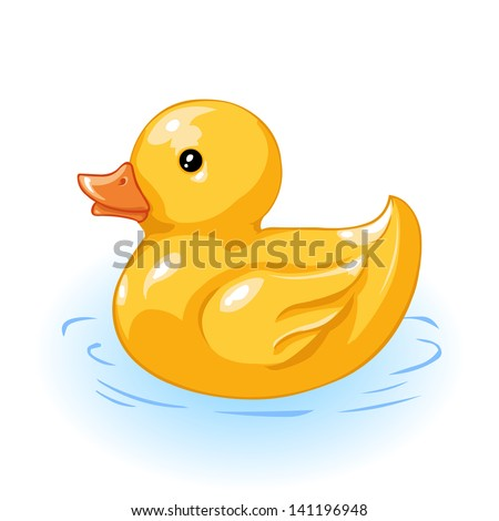 vector yellow duck for bath - stock vector