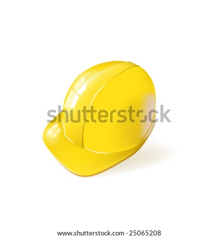 Vector yellow Hard Hat - stock vector