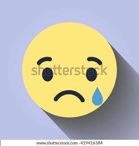 Sad stock images royalty free images vectors shutterstock vector yellow red circle icon sad face flat style with shadow facebook sad thecheapjerseys Gallery