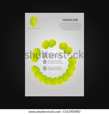 vector yellow shapes brochure flyer design template
