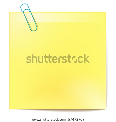 vector yellow sticker - stock vector