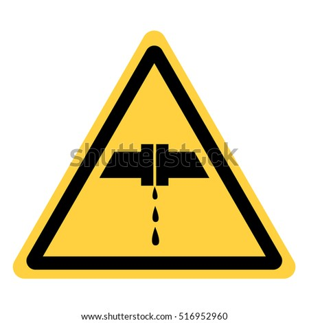vector yellow triangle security refers to a leak of water or corrosive substances from compounds