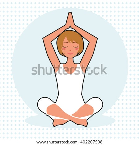 Vector yoga illustration. Woman yoga. Yoga poster.