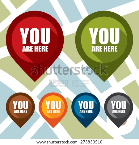 Vector : You Are Here Map Pointer Icon - stock vector