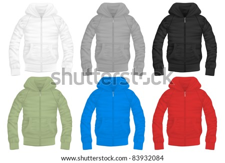 vector zipper hooded sweatshirt with pockets