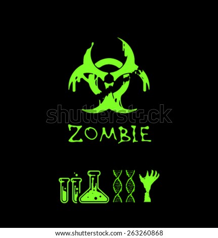 Vector zombie elemrts-02 - stock vector