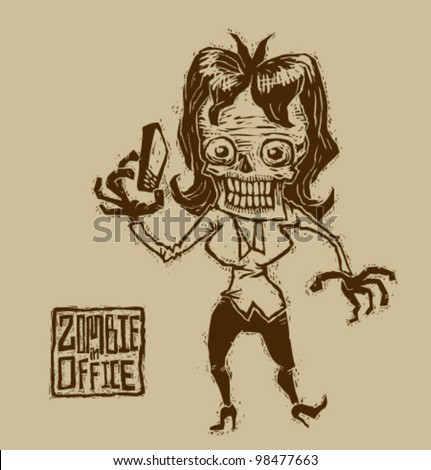 Vector zombie in office