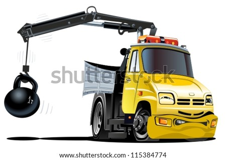Vectore Cartoon Tow Truck - stock vector